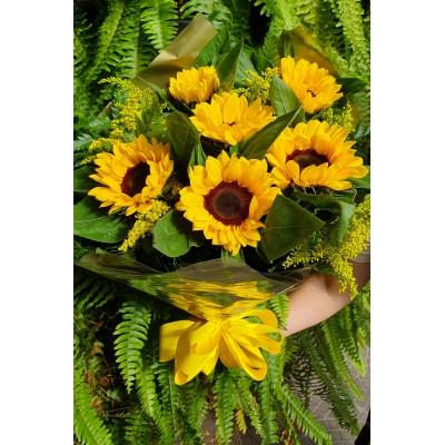709 Bouquet com 6 girassois