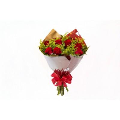 Bouquet de 12 Rosas Importadas Vermelhas