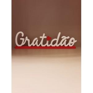"""placa """"Gratidão!"""