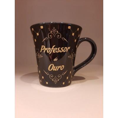 Caneca  Porcelana Professor de Ouro