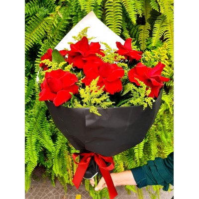 446 Bouquet de 6 Rosas Vermelhas